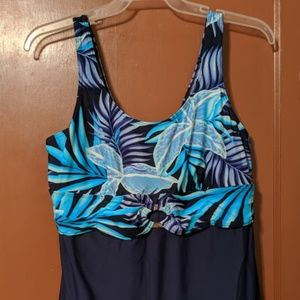 AVENUE SIZE 18 SWIMSDRESS NAVY BLUE